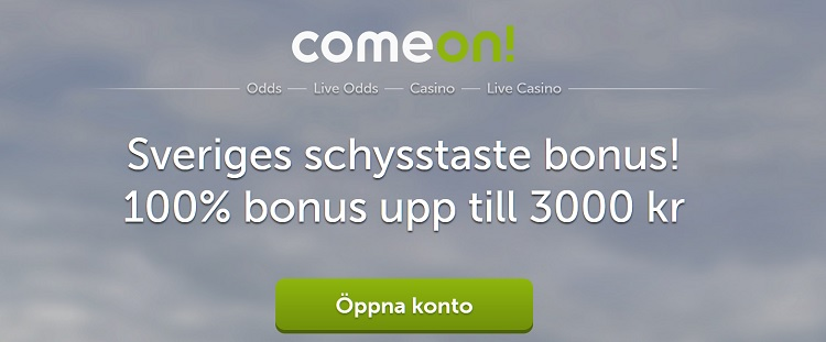 ComeOn bookmaker online med stor bettingbonus
